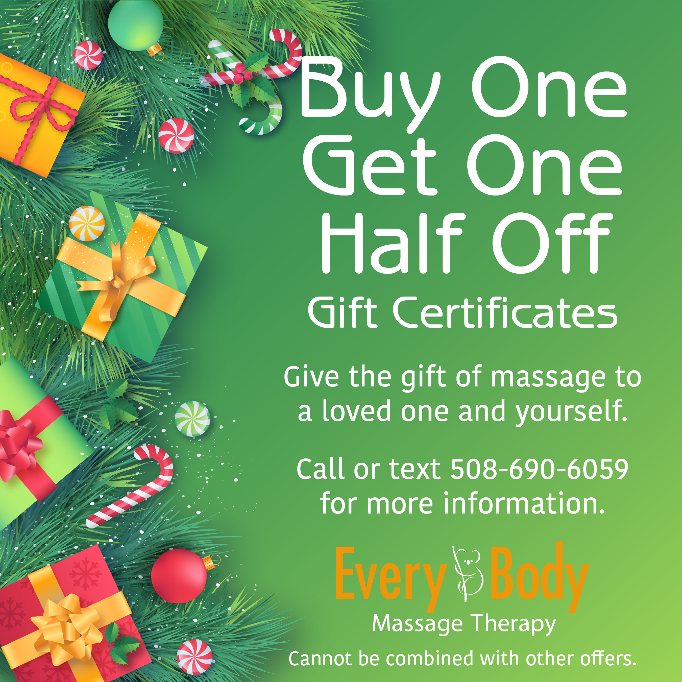 Buy One Get One Half Off Gift Certificates